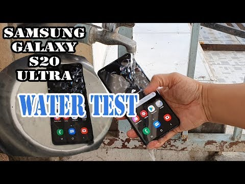 Samsung Galaxy S20 Ultra Waterproof Test