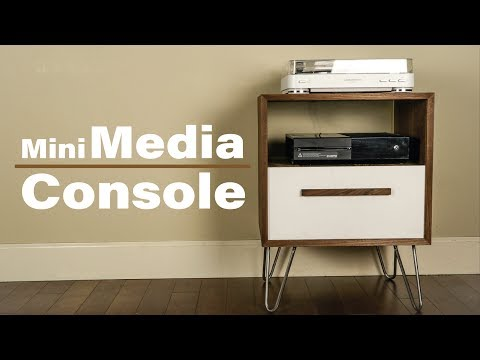 Modern Media Console // DIY Record Player Stand