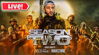 🔴 LIVE - CALL OF DUTY COLD WAR WARZONE SEASON 2 GRIND | NEW GUNS NEW SKINS