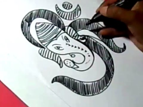 How to lord ome ganesha drawing for kids step by step