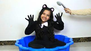 شفا تحولت إلى قطة !!!