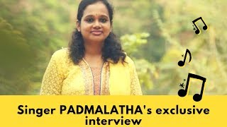 Singer Padmalatha's exclusive interview
