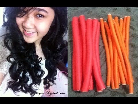How To Curl Your Hair Using Bendy Rollers