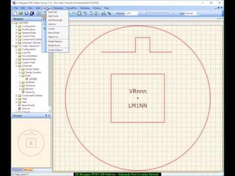 XL Designer PCB CAD Schematic Part Creation - Tutorial