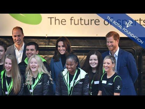 The Duke and Duchess of Cambridge attend the Coach Core Graduation