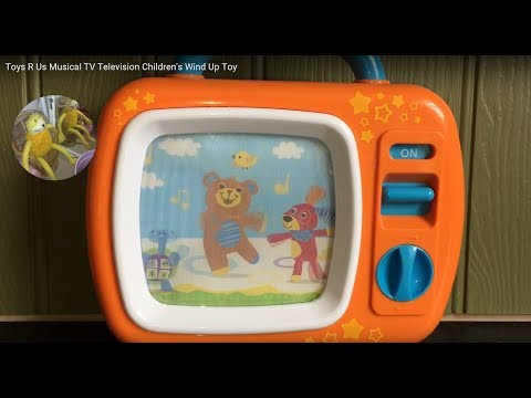 Toys R Us Musical TV Television Children's Wind Up Toy