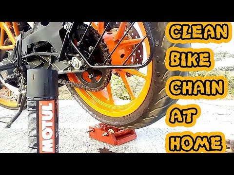 How to Clean motorcycle chain at home | KTM RC 200