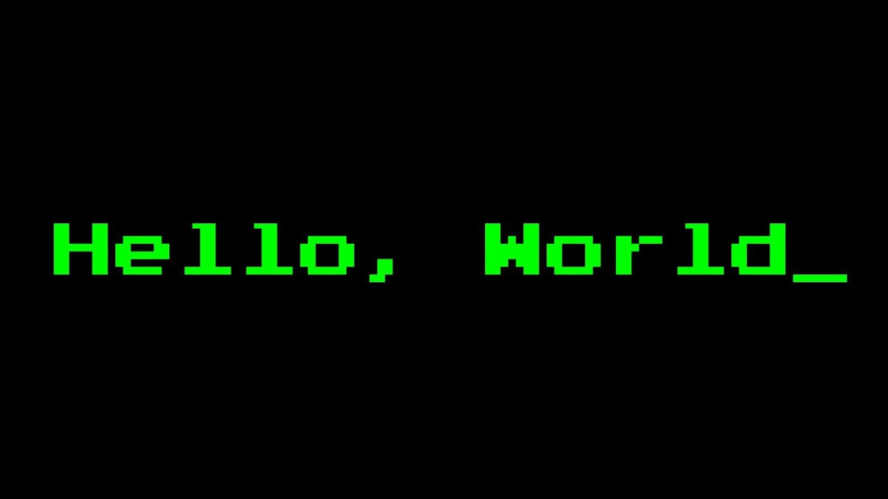 hello, world program in 35 languages - youtube