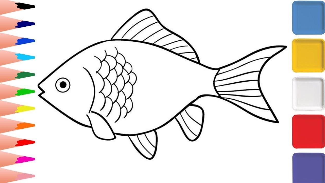 Fish Drawing - How To Draw Fish Coloring Pages - YaYa ...
