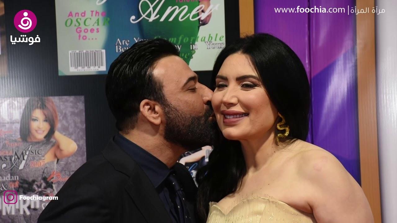 عبير صبري وزوجها يستفزان الجمهور بقبلة استعراضية على ...