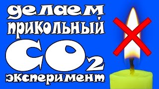 ТУШИМ ПЛАМЯ СВЕЧИ ПРИ ПОМОЩИ УГЛЕКИСЛОГО ГАЗА CO2 │#LizaZnaet