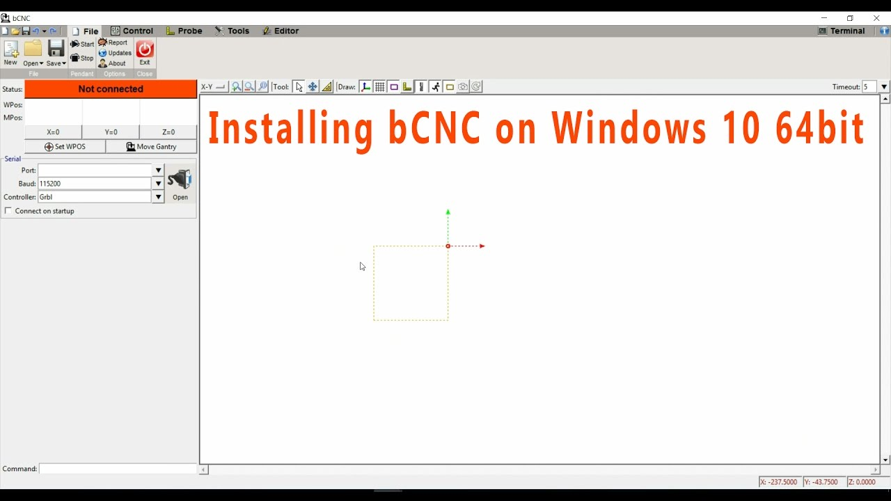 #16a Installing bCNC on Windows 10 64bit (Python 2 7 13 and Pyserial 3 3)  #16a / Software