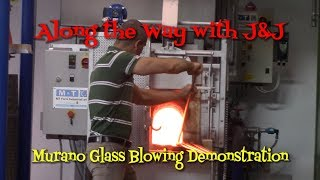 Murano Venetian Glass Blowing Demonstration - Venice Italy