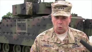 Die Amerikaner sind wieder in den Coleman Barracks in Mannheim - schweres Gerät für den Osten