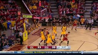 Men's Basketball: USC 82, ASU 83 - Highlights 2/26/17