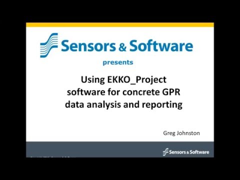 Webinar  Using EKKO_Project software for concrete GPR data analysis and reporting