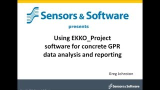 webinar using ekko project software for concrete gpr data analysis and reporting