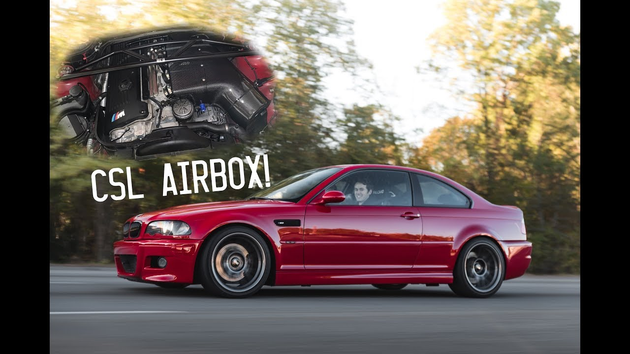 e46 m3 csl airbox induction noise scza exhaust youtube. Black Bedroom Furniture Sets. Home Design Ideas