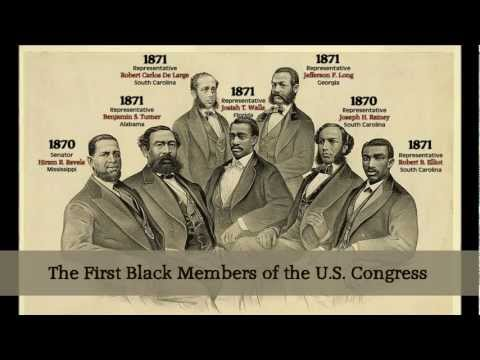 THE FIRST BLACKS TO SERVE IN THE U.S. CONGRESS - An Introduction