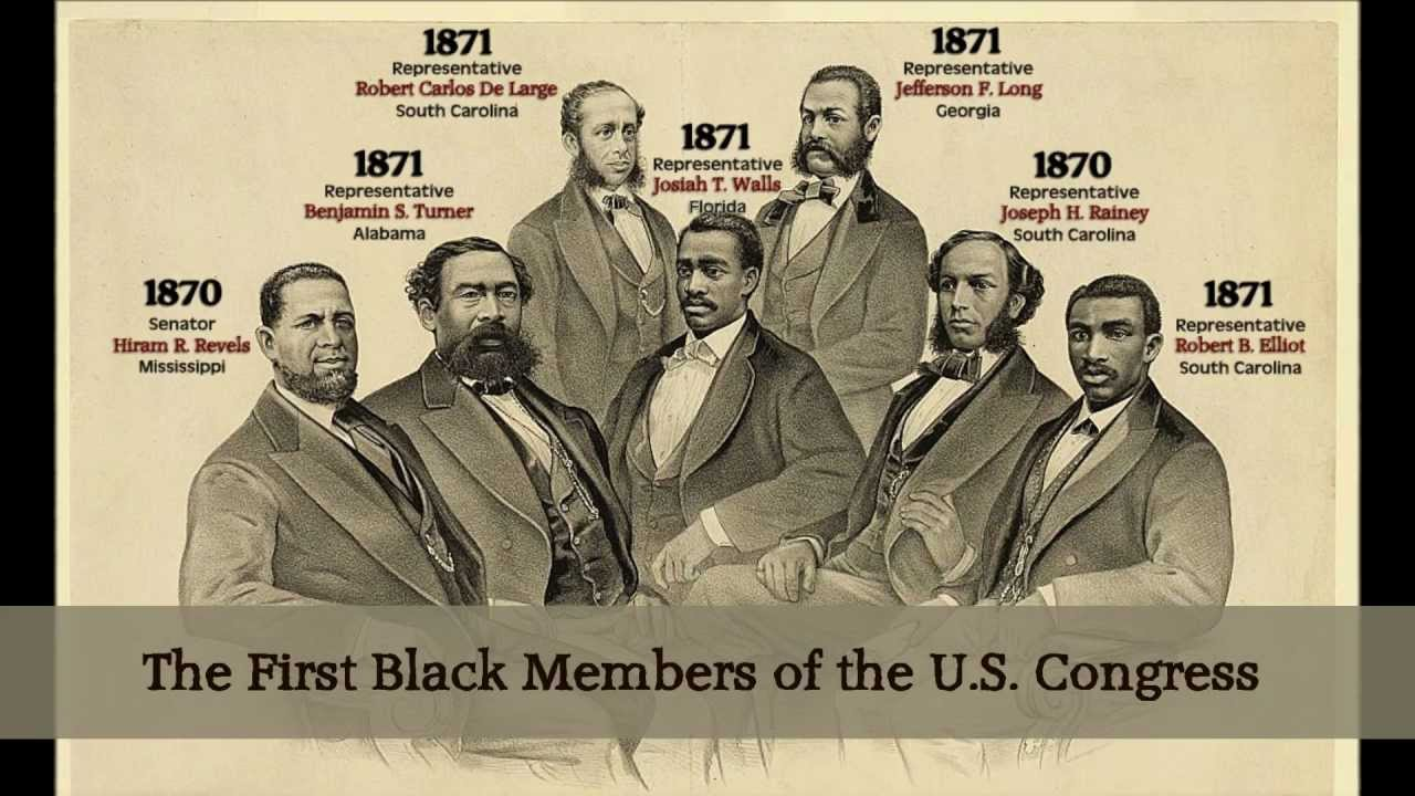 Image result for reconstruction black congressmen