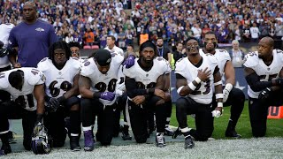 NFL Players Kneel In Protest of Trump Comments During Anthem
