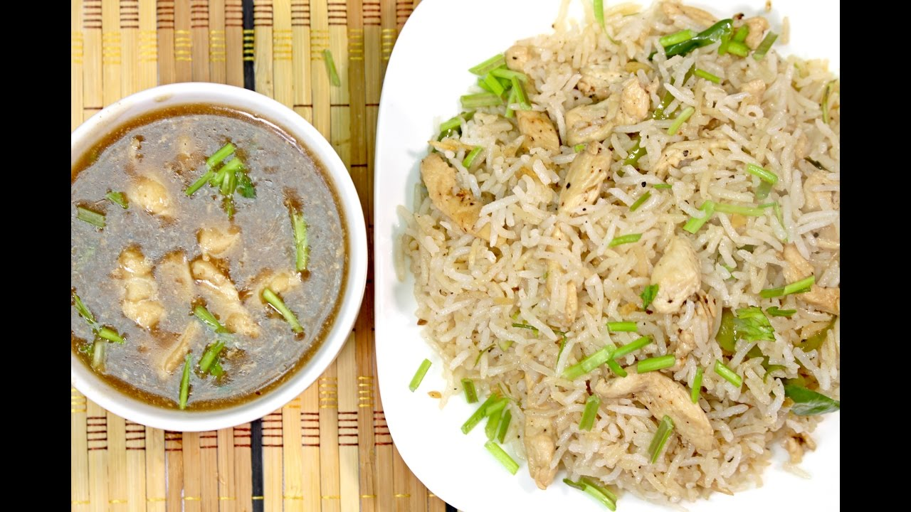 Garlic Chicken With Soya Sauce Fried Rice Recipe Youtube