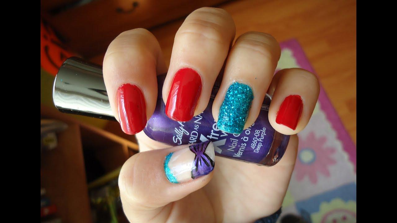 cute simple little mermaid nail