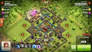 BM031 Balloons and Minions Strategy against champion level opponent - Clash of Clans CoC