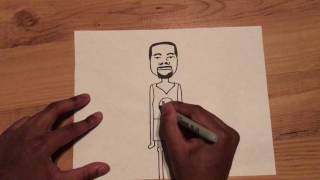 Speed Drawing Kevin Durant Stick Figure