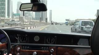 Rolls Royce Phanton drive on Sheikh Zayed Road, Dubai