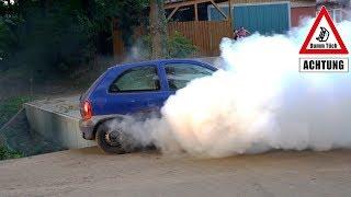 Reifen qualmt extrem - Wasser im Reifen | Dumm Tüch