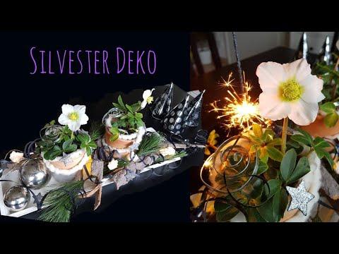 Silvester Tischdeko Winter Tischdeko Diy Christrose Floristik