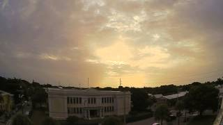 Time Lapse Video Of Crepusular Rays over Key West