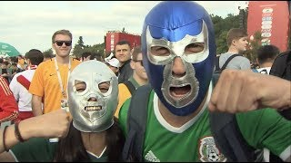 Fans Cheer for Their Teams during World Cup