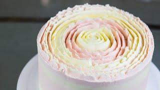 ПОСПОРИЛА ЧТО УКРАШУ ТОРТ ВСЕГО ОДНОЙ НАСАДКОЙ Как украсить торт кремом Торт Пион Рецепт крема