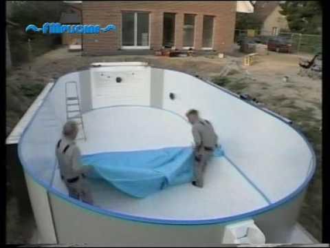 Montaggio di una piscina interrata YouTube