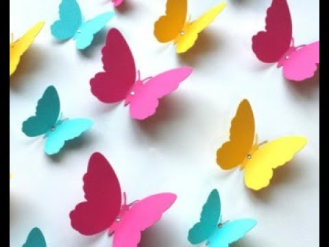 How to make paper butterfly in simple steps    DIY paper  crafts