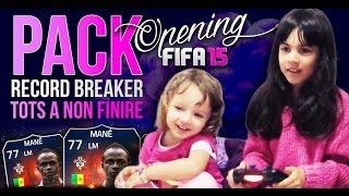 TROPPI TOTS IN 10 PACCHETTI!!! RECORD BREAKER IN A PACK CON LE MIE FIGLIE - FIFA 15