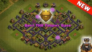 NEW Town Hall 8 (TH8) Trophy Base ♦ CoC TH8 Trophy Pushing Base with Bomb Tower ♦ Clash of Clans