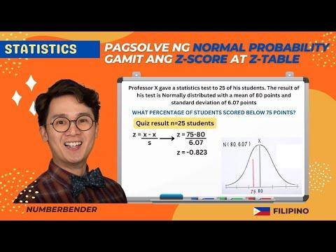 Statistics: Standard Normal Distribution and Z-Score in Filipino