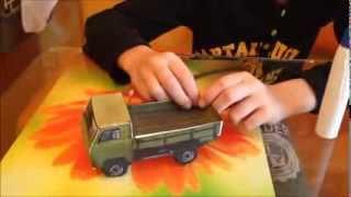 Як зробити машинку з паперу
