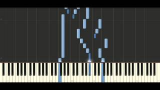 Bach - Sinfonia in B flat major, BWV 800 - Piano Tutorial Synthesia