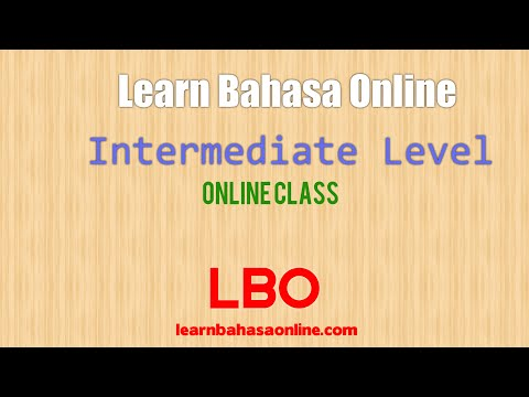 Learn Bahasa Indonesia Online (Lesson for intermediate class)