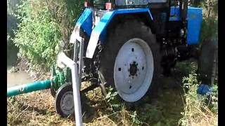 Tractor driven pump (Ekler Pump TKMP-125) and sprinkler GUN