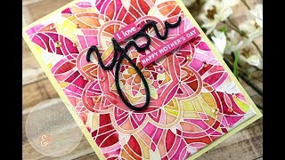 Tonic Shimmer Powders w a Background Stamp    AmyR 2018 Mother's Day Series #3
