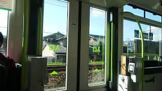 【ドア開閉】広島電鉄5200形5201号『Greenmover APEX』中扉開閉