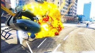 Ein GTA ONLINE Hacker CHEATET fliegende Rotoren!