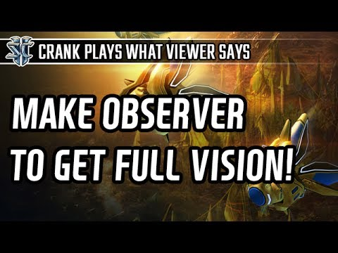 Make Observer to get full vision! in Protoss vs Protoss l StarCraft 2: Legacy of the Void l Crank