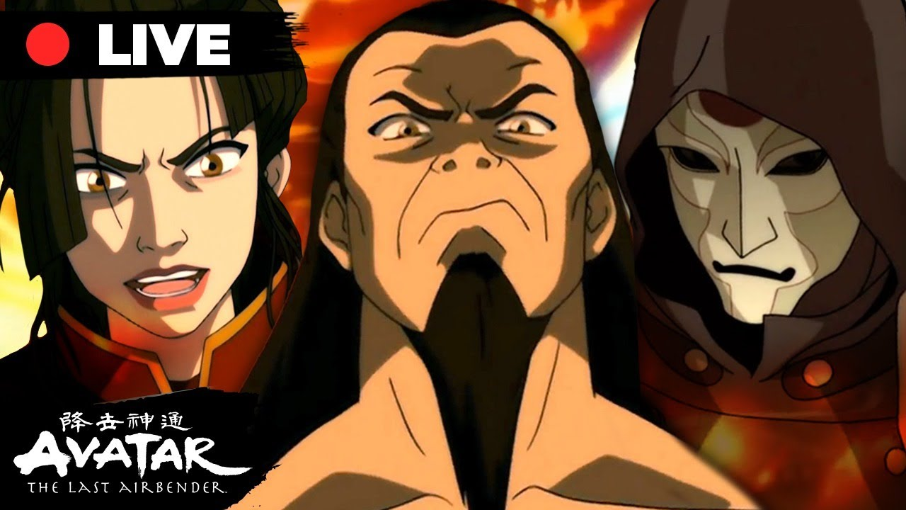 Download 🔴LIVE: Azula, Ozai, Zaheer + More Evil Characters Marathon 🔥 😈 | Avatar