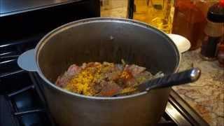 Жаркое из свинины в казане___ Pork stew